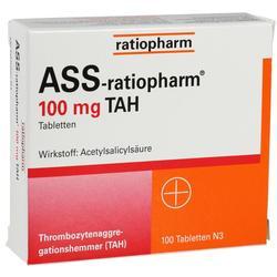 ASS-ratiopharm 100 mg TAH Tabletten